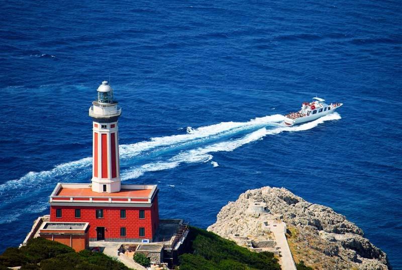 Faro di Punta Carena, secondo in Italia per potenza