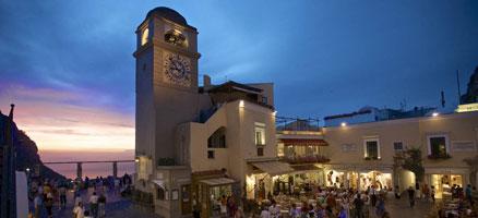 La famosa Piazzetta di Capri