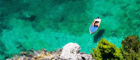 L'acqua cristallina di Capri