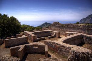 Villa Jovis fatta costruire dall'Imperatore Tiberio